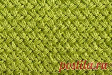 Узор Мелкая плетенка спицами (видео и фото мастер-класс)