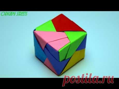 Как сделать куб из бумаги. Оригами куб из бумаги