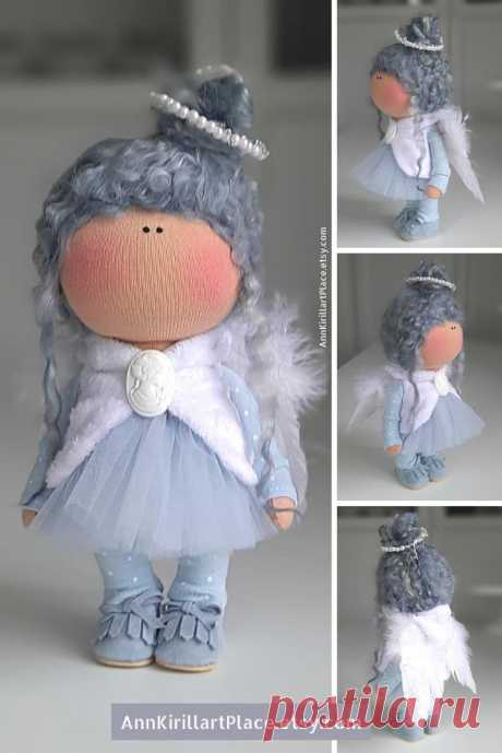 Winter Angel Doll Christmas Interior Decor Doll Nursery | Etsy