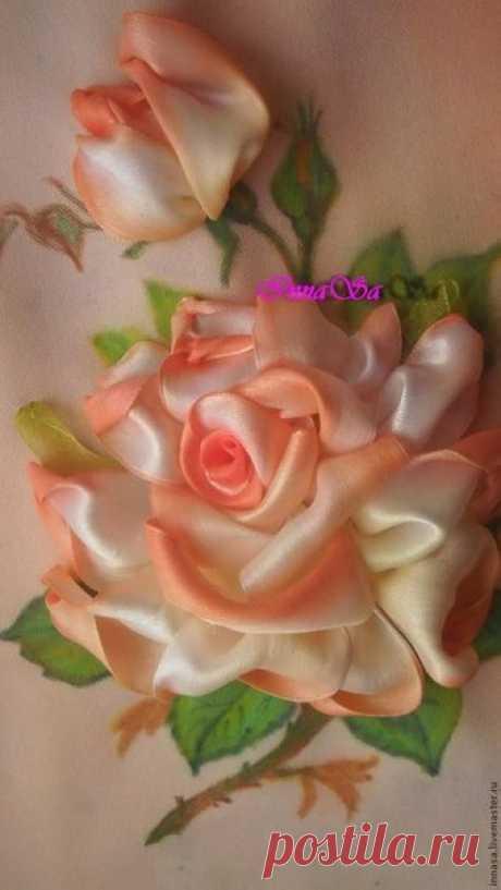 Вышиваем розу лентами — DIYIdeas