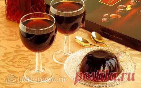 Желе из кока-колы, пошаговый рецепт с фото  Кока-кола - 500 мл Сахар-песок - 1 ст. л. Желатин - 20 г