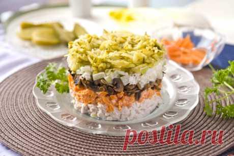 Неизменная классика вкуса— салат Обжорка Пошаговые рецепты приготовления салата Обжорка. Классический рецепт и несколько вариантов приготовления вкусного салата