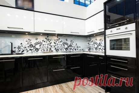 Дизайн кухни. Белое и черное. ~ ALL-DEKOR