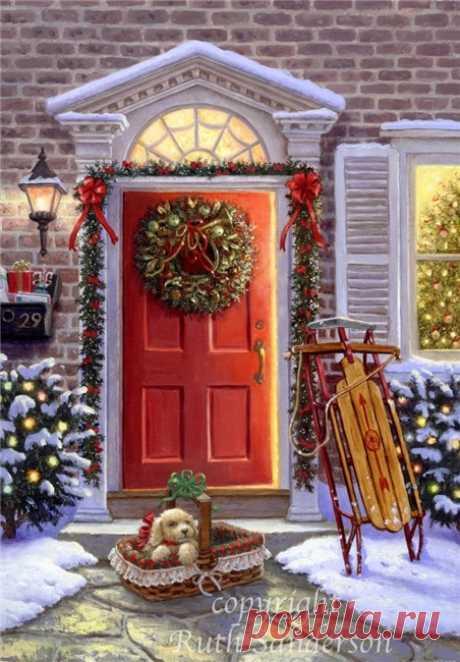 Коллекция картинок: Сказочные иллюстрации Sanderson Ruth_ Рождество, Новый год