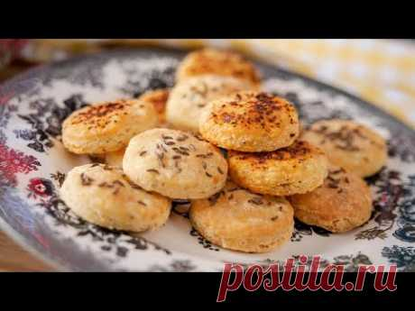 Очень вкусное СЫРНОЕ ПЕЧЕНЬЕ | сырные крекеры | простой рецепт Cheese Cookies