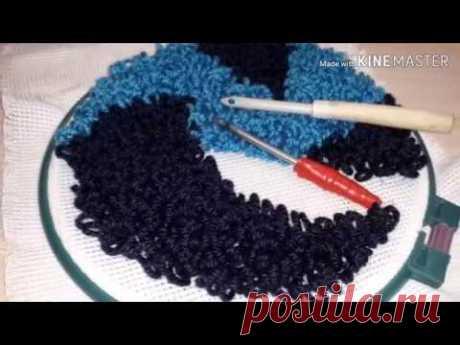 Самодельная игла для ковровой вышивки из спицы.