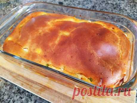 Самое быстрое бездрожжевое тесто для нежного заливного пирога под любую начинку + рецепт выпечки | Вкусно и полезно | Яндекс Дзен