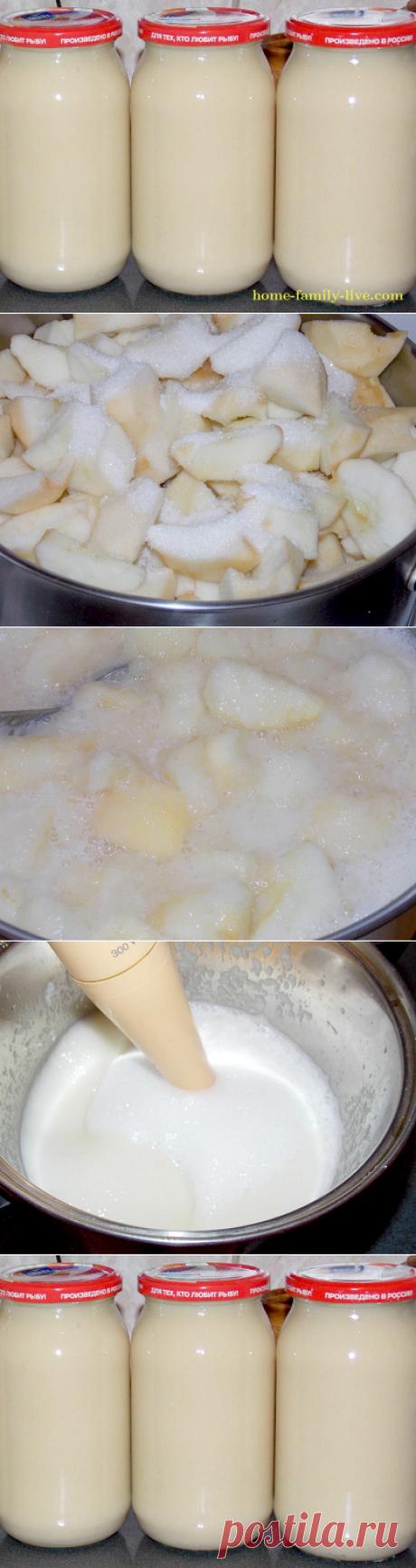 Яблочное пюре со сгущенным молоком и дыней/Сайт с пошаговыми рецептами с фото для тех кто любит готовить