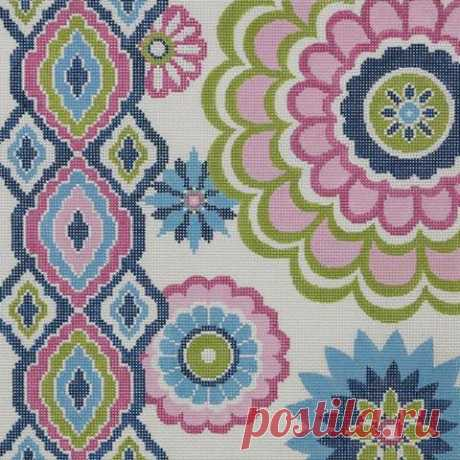Alice_Peterson_2381_Pink_Lime_Blue_Floral_13_mesh_12_x_12_Handpainted_Needlepoint_Canvas_Threads_Sold_Separately_160_large.jpg (480×480)