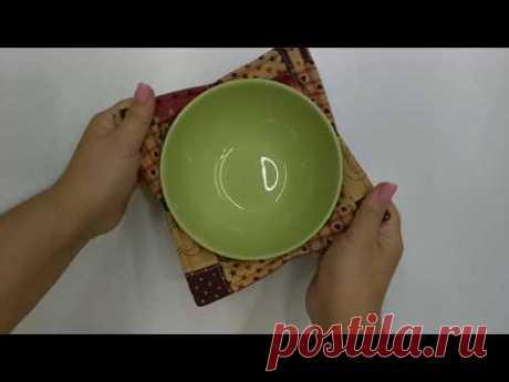 Как сшить прихватку для микроволновки. Ставьте тарелку прямо в ней!