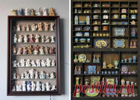 Коллекционируем красиво: 40+ впечатляющих полок для хранения коллекций   Журнал Ярмарки Мастеров