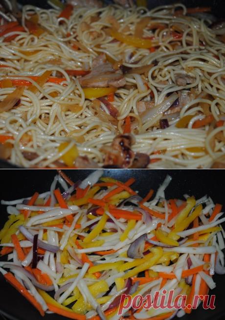 Лапша по-китайски со свининой - изобретение американских китайцев | Четыре вкуса
