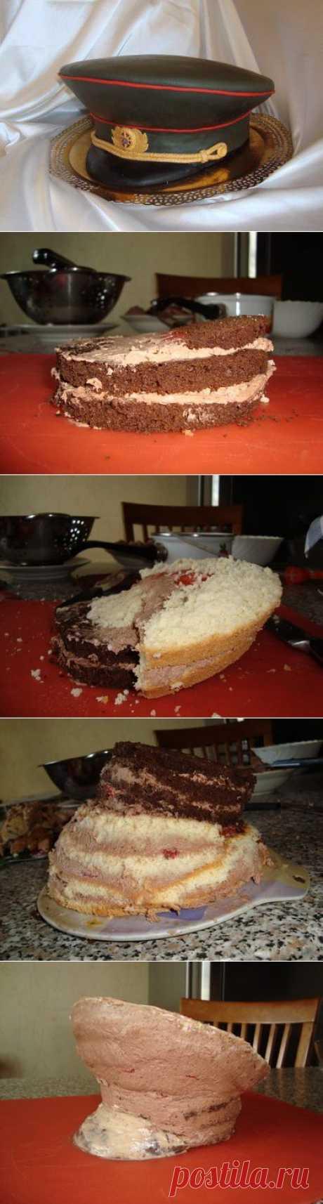 Как собрать торт - фуражку : Торты (украшения шаг за шагом)