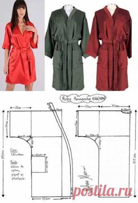 Как сшить халат кимоно мастер класс фото 826
