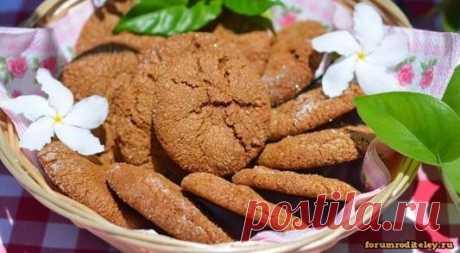 Имбирное печенье :: социальная сеть родителей Вкусное имбирное печенье одинаково подойдет как детям похрустеть, так и взрослым полакомиться среди рабочего дня!  Обязательно попробуйте приготовить имбирное печенье, прочитав простой рецепт приготовления на форуме родителей!   2 стакана муки,  3/4 стакана растительного масла,  1/2 стакана сахара,  1 большой бана