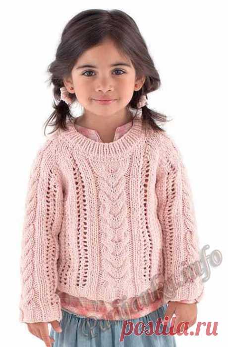 Пуловер (д) 16*87 Phildar №3542