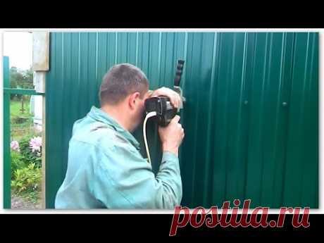 Как крепить профлист на забор. ✔