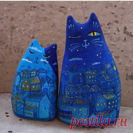 Окарины «городские коты» из мастерской керамики «Байгол», город Иркутск. 😁