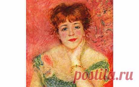 «Портрет актрисы Жанны Самари» Огюста Ренуара, 1877 год.