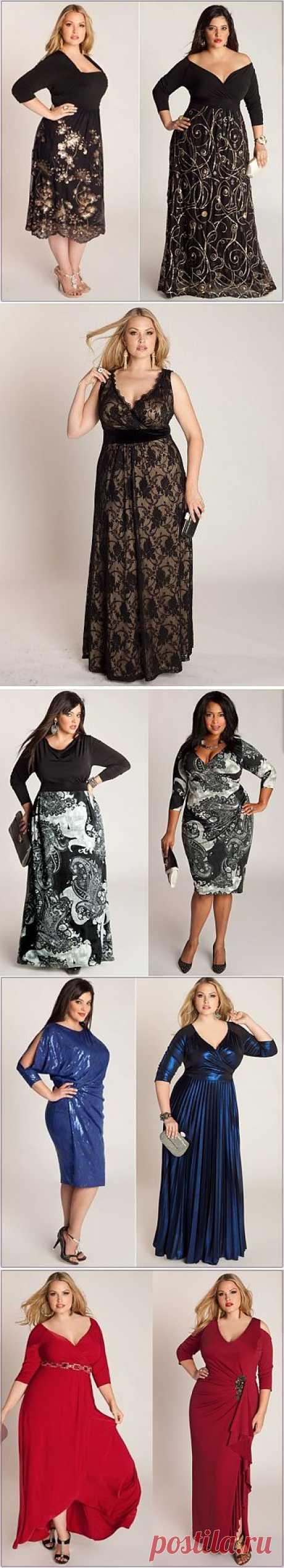 Праздничные платья для полных женщин