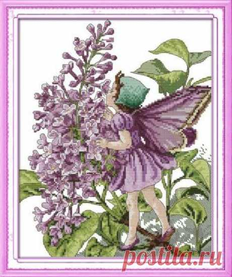 Purple, flowers, fairy,girl,cartoon, cross stitch kit, cross stitch, modern cross stitch,  handmade, embroidery, craft gifts, needlework diy Purple, flowers, fairy,girl,cartoon, cross stitch kit, cross stitch, modern cross stitch, handmade, embroidery, craft gifts, needlework, diy, kit  ☻ More cross stitch kits : https://www.etsy.com/shop/OscolShop?ref=seller-platform-mcnav§ion_id=24630773  ► Include: Canvas Cotton (without