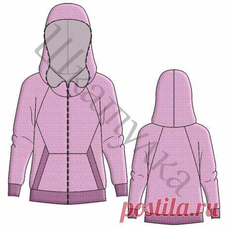 Выкройка женской трикотажной куртки WH250319 | Шкатулка
