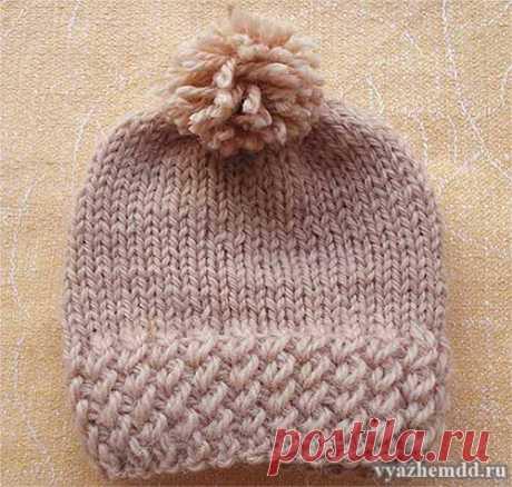Вязание красивой резинки для шапочек и не только | Вязание спицами для начинающих