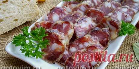 (+2) Домашняя сыровяленая колбаса : Мясные блюда : Кулинария : Subscribe.Ru