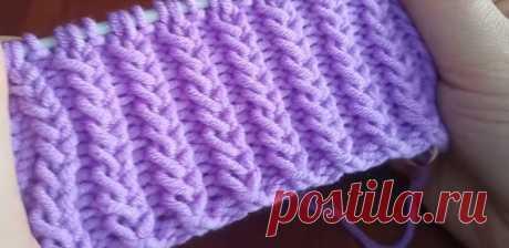 Красивая рельефная резинка (Вязание спицами) – Журнал Вдохновение Рукодельницы
