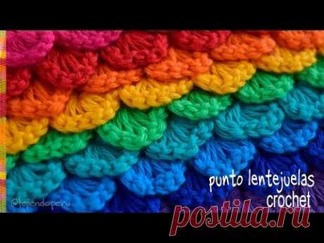 Punto lentejuelas tejido a crochet - Tejiendo Perú