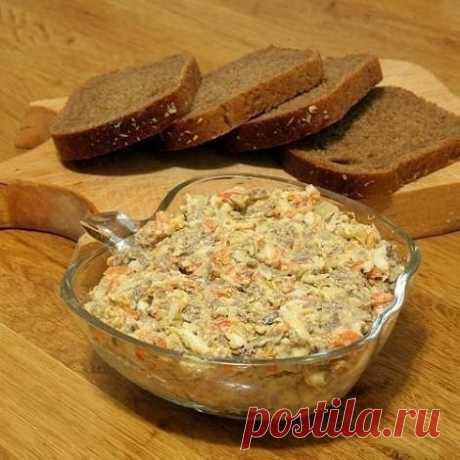 Как приготовить салат с морковью и печенью - рецепт, ингридиенты и фотографии