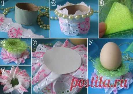 Пасхальная подставка для яиц на Пасху своими руками
