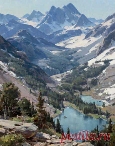 "CLYDE ASPEVIG High Country Lakes Oil on Canvas 40"" x 32"""