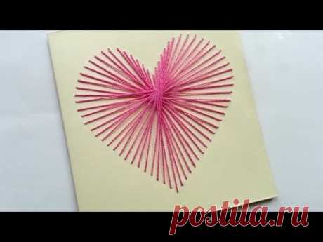 How To Create a Beautiful String Art Heart Card - DIY Crafts Tutorial - Guidecentral