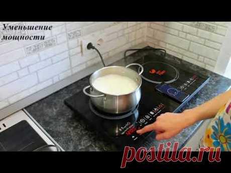 Приготовление каши на индукционной плите Kitfort KT 105