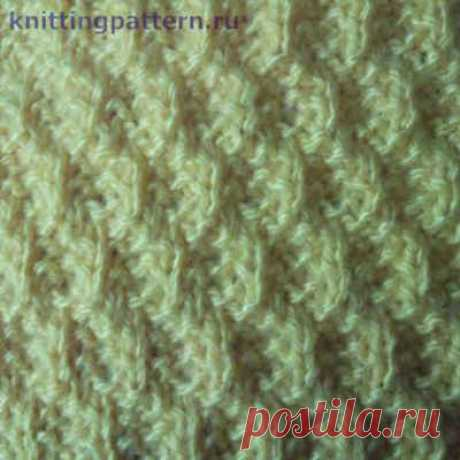 Schemes of knitting on spokes the Diagonal English pattern