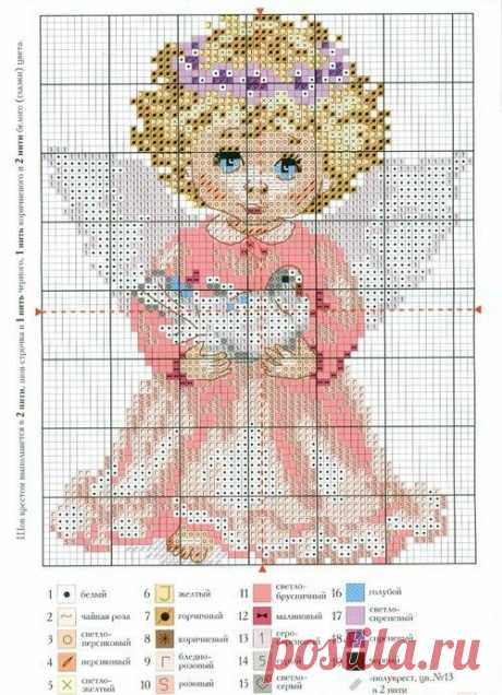 (6) Gallery.ru / ангел - делюсь схемами - konfetka28