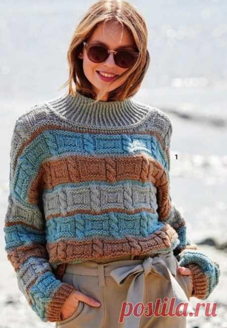 Подборка свитеров с высокими воротниками + мастер-класс объёмной сеточки спицами. | Asha. Вязание и дизайн.🌶 | Яндекс Дзен