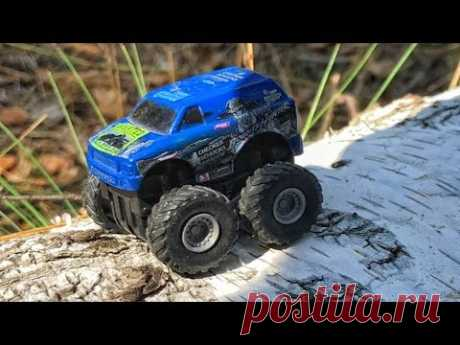 Kids toys - Bigfoot toy car run in forest. Mini monster truck toy videos - YouTube
