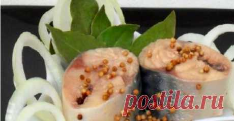 Скумбрия маринованная по-особому, даже вкуснее красной рыбы