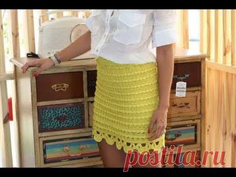 Вшиваем подъюбник в вязаную юбку