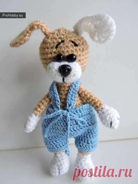 Knitted shchenochek Stepashka