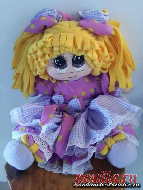 Как нарисовать текстильной кукле глазки (6)
