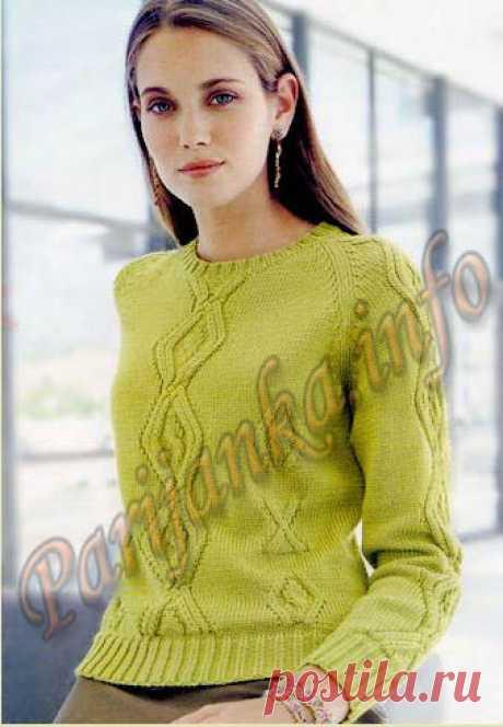 Пуловер-реглан