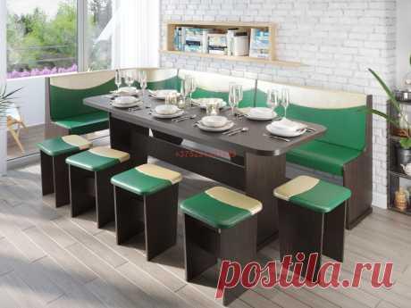 Кухонный уголок Титул-5 (венге/зеленый/золотой): купить в Минске недорого, низкие цены, скидки, рассрочка