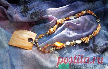 """Мастер-класс, набор """"Сокровища моря"""", ожерелье / Мое творчество - бижутерия"""