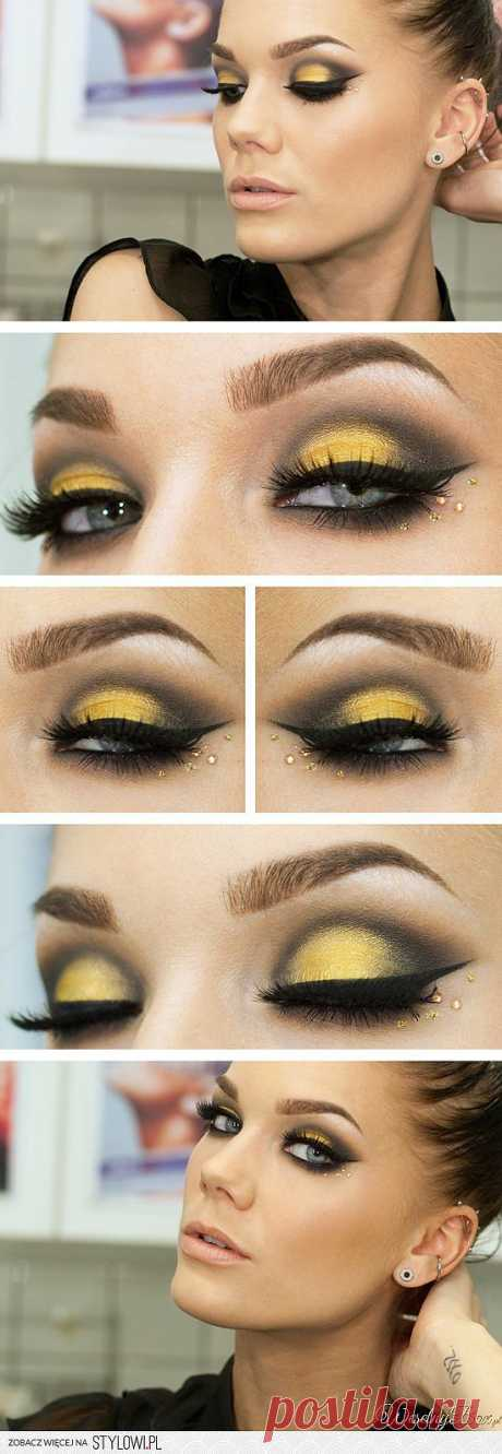Желтый цвет в макияже