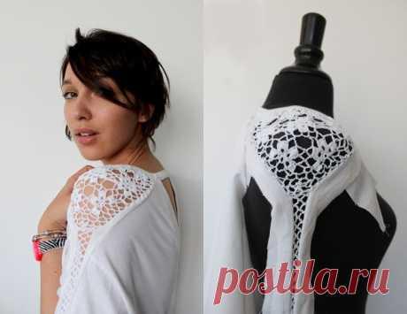 Преображаем одежду вязаными деталями - Ярмарка Мастеров - ручная работа, handmade