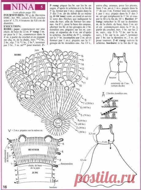 Шикарные платья для Барби крючком схемы: 11 тыс изображений найдено в Яндекс.Картинках