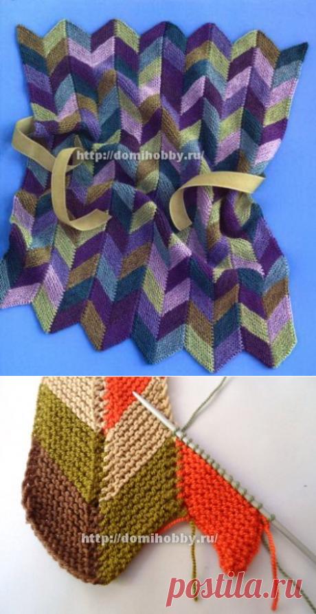 узор цветной зигзаг елочкой - Многоцветные узоры - Галерея - Knitting Forum.Ru